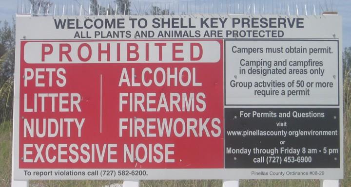 Shell Key County Rules